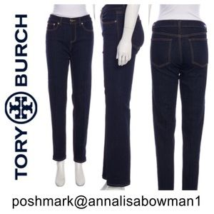 ⭐️EUC Tory Burch Straight Leg jean 26